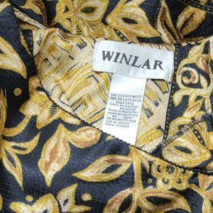 Winlar Dresses - Winlar Kaftan Caftan Gold Black Cover Up Dress OS